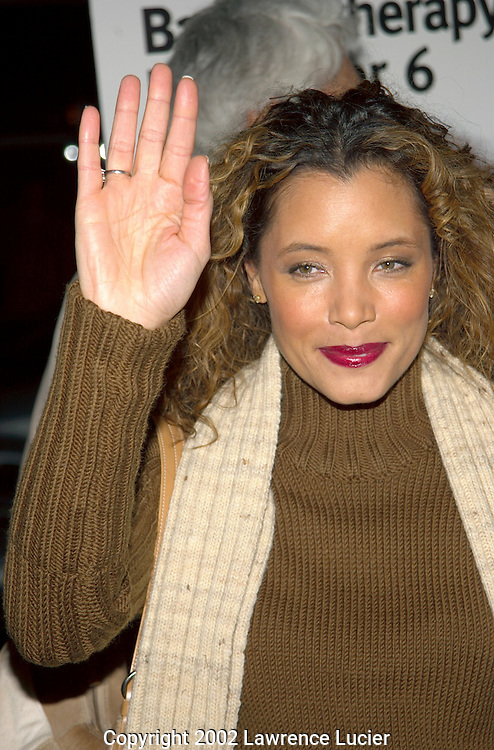 NEW YORK-DECEMBER 2: Actress Michael Michele arrives at the benefit premier of the film Analyze That December 2, 2002, at the Ziegfeld Theater in New York City.