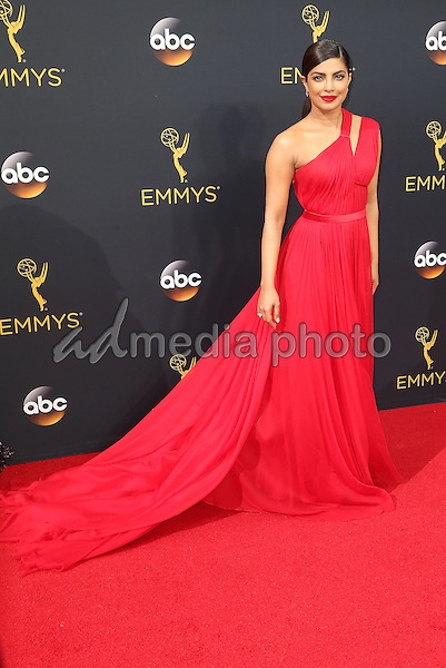 18 September 2016 - Los Angeles, California - Priyanka Chopra. 68th Annual Primetime Emmy Awards held at Microsoft Theater. Photo Credit: AdMedia
