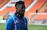 Blackpool's Armand Gnanduillet during the pre-match warm-up <br /> <br /> Photographer Stephen White/CameraSport<br /> <br /> The EFL Sky Bet League One - Blackpool v Bristol Rovers - Saturday 13th January 2018 - Bloomfield Road - Blackpool<br /> <br /> World Copyright &copy; 2018 CameraSport. All rights reserved. 43 Linden Ave. Countesthorpe. Leicester. England. LE8 5PG - Tel: +44 (0) 116 277 4147 - admin@camerasport.com - www.camerasport.com