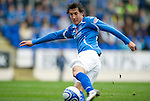 St Johnstone v Inverness Caley Thistle...15.10.11   SPL Week 11.Francisco Sansaza scores for St Johnstone.Picture by Graeme Hart..Copyright Perthshire Picture Agency.Tel: 01738 623350  Mobile: 07990 594431