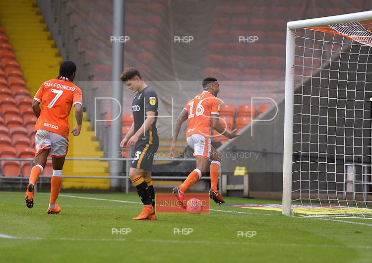 08/09/2018 Sky Bet League 1 Blackpool v Bradford City<br /> <br /> Curtis Tilt celebrates after scoring the third Blackpool goal