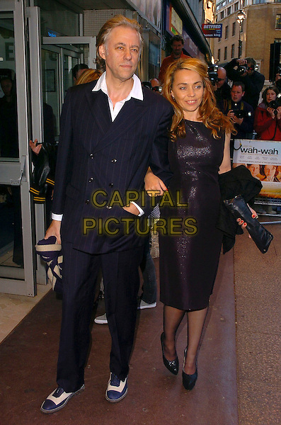 "BOB GELDOF & JEANNE MARINE.Arrivals at the UK Film Premiere of ""Wah Wah"", .Odeon Leicester Square, London, England, .May 30th 2006..full length couple marie.Ref: CAN.www.capitalpictures.com.sales@capitalpictures.com.©Can Nguyen/Capital Pictures"