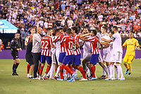 EAST RUTHERFORD, EUA, 26.07.2019 - Real Madrid-ATLETICO MADRID - Daniel Carvajal do Real Madrid e Diego  Costa do Atlético de Madrid discutem durante partida pela International Champions Cup no MetLife Stadium em East Rutherford nos Estados Unidos na noite desta sexta-feira, 26. (Foto: William Volcov/Brazil Photo Press/Folhapress)
