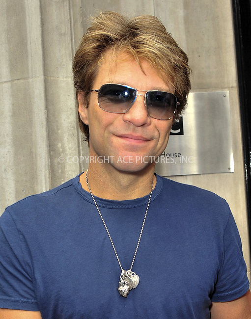 WWW.ACEPIXS.COM . . . . .  ..... . . . . US SALES ONLY . . . . .....Singer Jon Bon Jovi of Bonjovi at the BBC Radio 2 studios on September 16 2009 in London....Please byline: FAMOUS-ACE PICTURES... . . . .  ....Ace Pictures, Inc:  ..tel: (212) 243 8787 or (646) 769 0430..e-mail: info@acepixs.com..web: http://www.acepixs.com