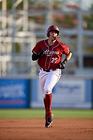 Altoona Curve first baseman Will Craig (25) rounds the bases after hitting a home run in the bottom of the fourth inning during a game against the Richmond Flying Squirrels on May 15, 2018 at Peoples Natural Gas Field in Altoona, Pennsylvania.  Altoona defeated Richmond 5-1.  (Mike Janes/Four Seam Images)