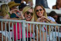 Avid golf fans enjoy the afternoon with cocktails in the box seats near the green on 18 during the round 3 of the Volunteers of America Texas Classic, the Old American Golf Club, The Colony, Texas, USA. 10/5/2019.<br /> Picture: Golffile   Ken Murray<br /> <br /> <br /> All photo usage must carry mandatory copyright credit (© Golffile   Ken Murray)