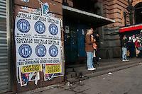 BUENOS AIRES, ARGENTINA - 28.08.2014 - GREVE GERAL ARGENTINA - Chamado pela CGT oposição e se juntou, entre outros os trabalhadores ferroviários sindicatos realizam greve geral 24 horas (36 horas para que os sindicatos de esquerda e partidos) realizada contra o governo da presidente Cristina Fernandez de Kirchner. (Foto: Patricio Murphy - Brasil Photo Press).