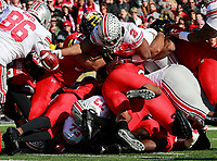 Ohio State Buckeyes running back J.K. Dobbins (2) scores a touchdown in the first half of their game at Maryland Stadium in College Park, MD on November 17, 2018. [ Brooke LaValley / Dispatch ]