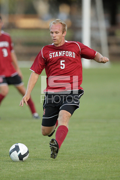 STANFORD, CA - AUGUST 25:  Michael Strickland of the Stanford Cardinal during Stanford's 0-0 tie with the St. Mary's Gaels at Laird Q. Cagan Stadium on August 25, 2009 in Stanford, California.