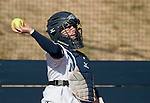 March 23, 2012:   Nevada Wolf Pack catcher Ashley Butera against the Fresno State Bulldogs during their NCAA softball game played at Christina M. Hixson Softball Park on Friday in Reno, Nevada.