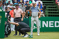 Brandon Grace (RSA)  and Rory McIlroy (NIR) and Haotong Li (CHN)during the first round at the Nedbank Golf Challenge hosted by Gary Player,  Gary Player country Club, Sun City, Rustenburg, South Africa. 08/11/2018 <br /> Picture: Golffile | Tyrone Winfield<br /> <br /> <br /> All photo usage must carry mandatory copyright credit (&copy; Golffile | Tyrone Winfield)
