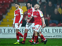 Fleetwood Town's Paddy Madden celebrates scoring his side's third goal <br /> <br /> Photographer Richard Martin-Roberts/CameraSport<br /> <br /> The EFL Sky Bet League One - Fleetwood Town v Doncaster Rovers - Wednesday 26th December 2018 - Highbury Stadium - Fleetwood<br /> <br /> World Copyright © 2018 CameraSport. All rights reserved. 43 Linden Ave. Countesthorpe. Leicester. England. LE8 5PG - Tel: +44 (0) 116 277 4147 - admin@camerasport.com - www.camerasport.com