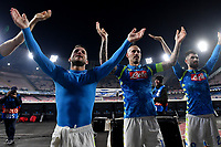 Dries Mertens and Marek Hamsik of Napoli celebrate at the end of the Uefa Champions League 2018/2019 Group C football match betweenSSC Napoli and Crvena Zvezda at San Paolo stadium, Napoli, November, 28, 2018 <br /> Foto Andrea Staccioli / Insidefoto