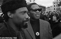 Visiting American Black Power members, anti-Vietnam war demonstration march from Trafalgar Sq to Grosvenor Sq Sunday 17th March 1968.