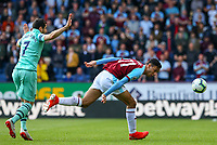 Burnley's Dwight McNeil battles with Arsenal's Henrikh Mkhitaryan<br /> <br /> Photographer Alex Dodd/CameraSport<br /> <br /> The Premier League - Burnley v Arsenal - Sunday 12th May 2019 - Turf Moor - Burnley<br /> <br /> World Copyright &copy; 2019 CameraSport. All rights reserved. 43 Linden Ave. Countesthorpe. Leicester. England. LE8 5PG - Tel: +44 (0) 116 277 4147 - admin@camerasport.com - www.camerasport.com