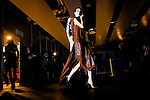 MADRID, SPAIN - FEBRUARY 02: A model is seen at backstage at the show during Mercedes-Benz Fashion Week Madrid A/W 2012 at Ifema on February 2, 2012 in Madrid, Spain. (Photo by Juan Naharro
