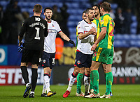 Players from both sides shake hands at the end of the match<br /> <br /> Photographer Andrew Kearns/CameraSport<br /> <br /> The EFL Sky Bet Championship - Bolton Wanderers v West Bromwich Albion - Monday 21st January 2019 - University of Bolton Stadium - Bolton<br /> <br /> World Copyright © 2019 CameraSport. All rights reserved. 43 Linden Ave. Countesthorpe. Leicester. England. LE8 5PG - Tel: +44 (0) 116 277 4147 - admin@camerasport.com - www.camerasport.com