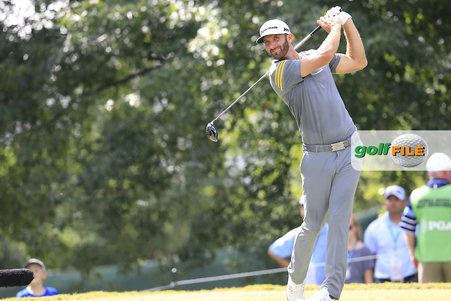 Dustin Johnson (USA) tees off the 16th tee during Saturday's Round 3 of the 2017 PGA Championship held at Quail Hollow Golf Club, Charlotte, North Carolina, USA. 12th August 2017.<br /> Picture: Eoin Clarke | Golffile<br /> <br /> <br /> All photos usage must carry mandatory copyright credit (&copy; Golffile | Eoin Clarke)