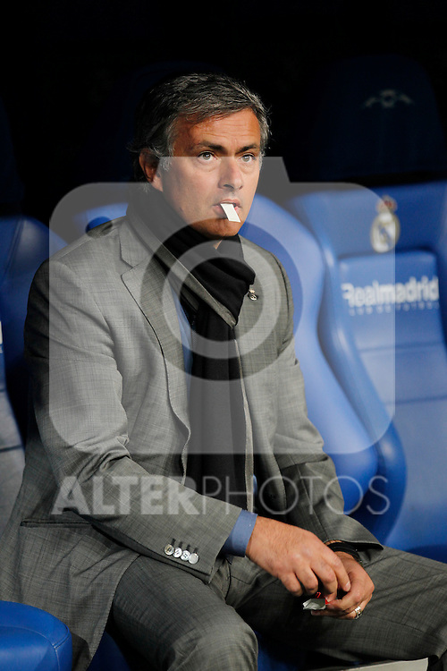 Real Madrid's Jose Mourinho during champions league match ..Photo: Cesar Cebolla  / ALFAQUI