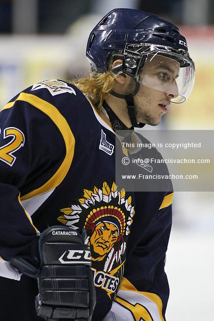 QMJHL (LHJMQ) hockey profile photo on Shawinigan Cataractes Peter Sakaris April 8, 2011 at the Colisee Pepsi in Quebec city.