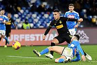 Lautaro Martinez of FC Internazionale scores the goal of 1-3<br /> Napoli 6-1-2020 Stadio San Paolo <br /> Football Serie A 2019/2020<br /> SSC Napoli - FC Internazionale <br /> Photo Andrea Staccioli / Insidefoto