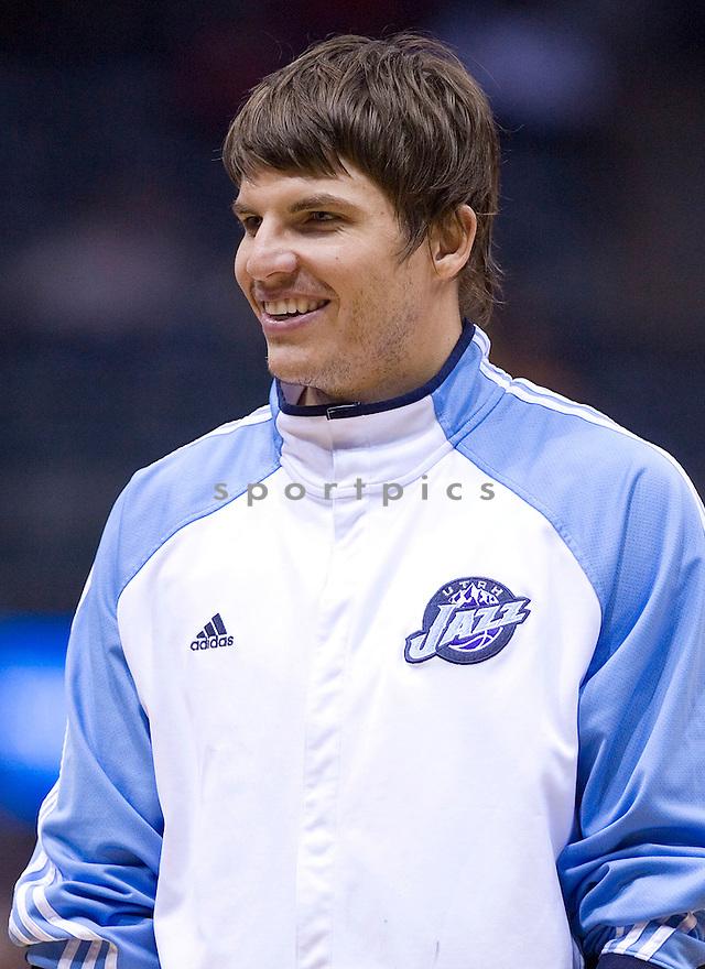 Kyle Korver..March 12, 2010 Milwaukee, WI. Bradley Center...Milwaukee Buck won over the Utah Jazz 95-87