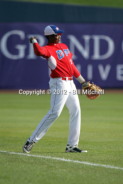 Leurys Vargas - 2012 Dominican Prospect League all-stars - spring training (Bill Mitchell)