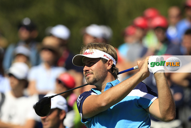 Victor DUBUISSON (FRA) tees off the 14th tee during Saturday's Round 3 of the 2014 Omega European Masters held at the Crans Montana Golf Club, Crans-sur-Sierre, Switzerland.: Picture Eoin Clarke, www.golffile.ie: 6th September 2014