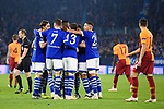 06.11.2018, VELTINS Arena, Gelsenkirchen, Deutschland, GER, UEFA Champions League, Gruppenphase, Gruppe D, FC Schalke 04 vs. Galatasaray Istanbul<br /> <br /> DFL REGULATIONS PROHIBIT ANY USE OF PHOTOGRAPHS AS IMAGE SEQUENCES AND/OR QUASI-VIDEO.<br /> <br /> im Bild Torjubel / Jubel  Schalke um Guido Burgstaller (#19 Schalke) nach 1-0 Schalke<br /> <br /> Foto &copy; nordphoto / Kurth