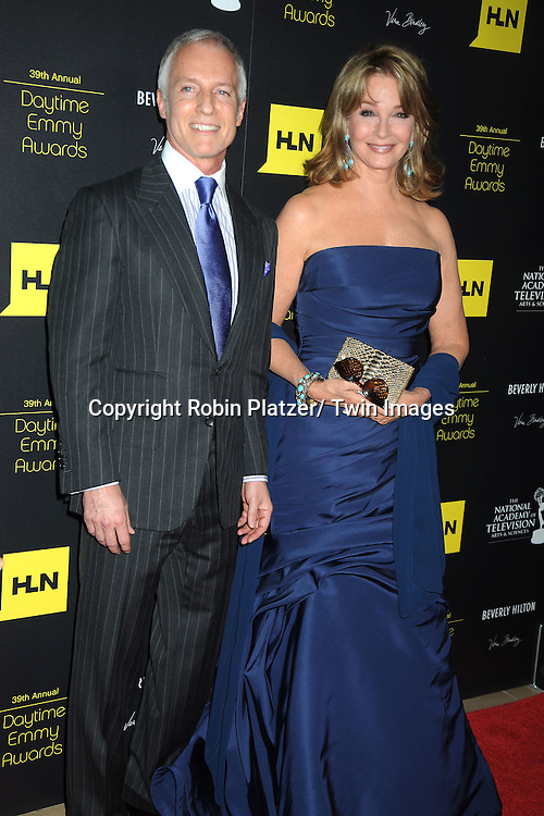 Greg Meng and Deidre Hall attends the 39th Annual Daytime Emmy Awards on June 23, 2012 at the Beverly Hilton in Beverly Hills, California. The awards were broadcast on HLN.