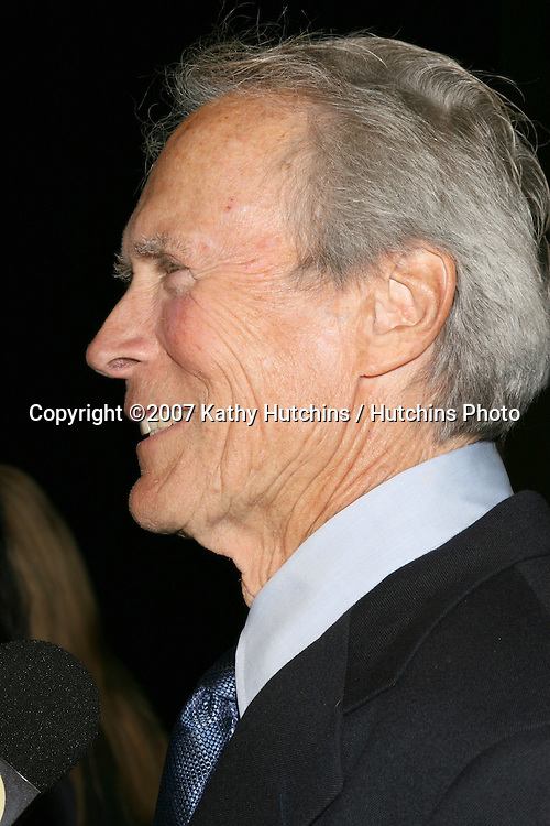 "Clint Eastwood.""Rails & Ties"" Premiere.Stephen J. Ross Theater.Warner Brothers Lot.Burbank,  CA.October 23, 2007.©2007 Kathy Hutchins / Hutchins Photo...               ."