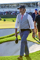 David Feherty walks near the 14th green during round 4 Singles of the 2017 President's Cup, Liberty National Golf Club, Jersey City, New Jersey, USA. 10/1/2017. <br /> Picture: Golffile | Ken Murray<br /> <br /> All photo usage must carry mandatory copyright credit (&copy; Golffile | Ken Murray)