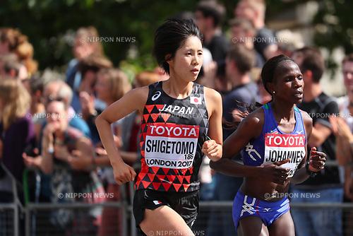 Risa Shigetomo (JPN), <br /> AUGUST 6, 2017 - Athletics : <br /> IAAF World Championships London 2017 <br /> Women's Marathon <br /> in London, UK. <br /> (Photo by YUTAKA/AFLO SPORT)