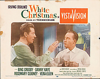 White Christmas (1954) <br /> Lobby card with Bing Crosby &amp; Danny Kaye<br /> *Filmstill - Editorial Use Only*<br /> CAP/KFS<br /> Image supplied by Capital Pictures