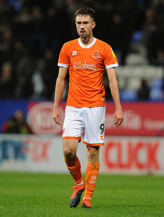 Blackpool's Ryan Hardie<br /> <br /> Photographer Kevin Barnes/CameraSport<br /> <br /> The EFL Sky Bet League One - Bolton Wanderers v Blackpool - Monday 7th October 2019 - University of Bolton Stadium - Bolton<br /> <br /> World Copyright © 2019 CameraSport. All rights reserved. 43 Linden Ave. Countesthorpe. Leicester. England. LE8 5PG - Tel: +44 (0) 116 277 4147 - admin@camerasport.com - www.camerasport.com