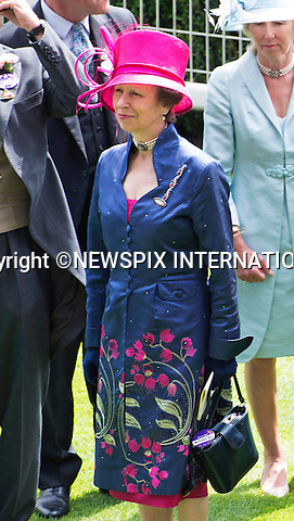 19.06.2014;Ascot, England: ROYAL ASCOT 2014 LADIES DAY - PRINCESS ANNE<br /> The Queen, Duke of Edinburgh, Princes Andrew and Harry Prince Harry, Princesses Anne, Eugenie and Beatrice in attendance on the Ladies Day of the 4-day Royal Ascot Race Meeting.<br /> Mandatory Photo Credit: &copy;Francis Dias/NEWSPIX INTERNATIONAL<br /> <br /> **ALL FEES PAYABLE TO: &quot;NEWSPIX INTERNATIONAL&quot;**<br /> <br /> PHOTO CREDIT MANDATORY!!: NEWSPIX INTERNATIONAL(Failure to credit will incur a surcharge of 100% of reproduction fees)<br /> <br /> IMMEDIATE CONFIRMATION OF USAGE REQUIRED:<br /> Newspix International, 31 Chinnery Hill, Bishop's Stortford, ENGLAND CM23 3PS<br /> Tel:+441279 324672  ; Fax: +441279656877<br /> Mobile:  0777568 1153<br /> e-mail: info@newspixinternational.co.uk