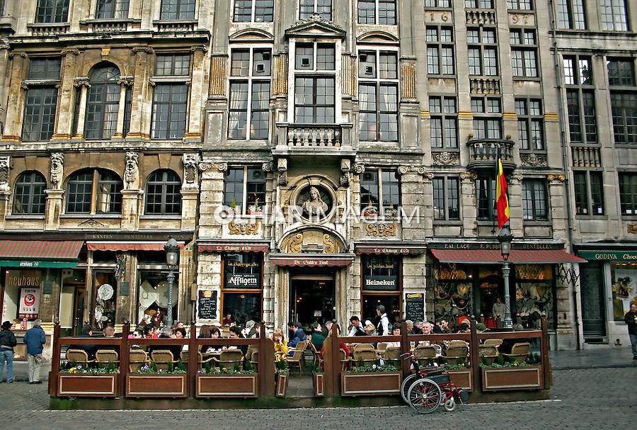 Grand Place em Bruxelas. Bélgica. 2007. Foto de Marcio Nel Cimatti.