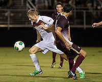 The Winthrop University Eagles played the College of Charleston Cougars at Eagles Field in Rock Hill, SC.  College of Charleston broke the 1-1 tie with a goal in the 88th minute to win 2-1.  Max Hasenstab (18), Tucker Coons (3)