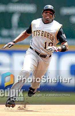 7 June 2007: Pittsburgh Pirates outfielder Rajai Davis hustles to third base while hitting a triple against the Washington Nationals at RFK Stadium in Washington, DC. The Pirates defeated the Nationals 3-2 in the third game of their 3-game series...Mandatory Credit: Ed Wolfstein Photo
