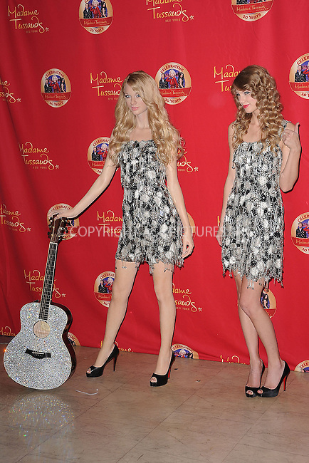 WWW.ACEPIXS.COM . . . . . .October 27, 2010, New York City...Taylor Swift unveils her wax figure at Madame Tussauds on October 27, 2010 in New York City....Please byline: KRISTIN CALLAHAN - ACEPIXS.COM.. . . . . . ..Ace Pictures, Inc: ..tel: (212) 243 8787 or (646) 769 0430..e-mail: info@acepixs.com..web: http://www.acepixs.com .