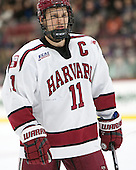Kyle Criscuolo (Harvard - 11) - The Harvard University Crimson defeated the visiting Colgate University Raiders 7-4 (EN) on Saturday, February 20, 2016, at Bright-Landry Hockey Center in Boston, Massachusetts,