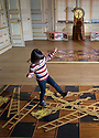 21/11/19<br /> <br /> Martha Johnstone (4) plays Snakes and Ladders in the Saloon.<br /> <br /> Game On: A supersized snakes and ladder and other board games feature at the National Trust's Sudbury Hall, Derbyshire, where rooms have been converted into board games for Christmas. Visitors themselves are the playing pieces on the snakes and ladders board while other traditional board games featured include Scrabble, Guess Who and Cluedo.<br /> <br /> Full story:  https://rkp-press-releases.netlify.com/press-releases/2019-11-20-sudbury-hall-christmas-game-on-national-trust/<br /> <br /> <br /> All Rights Reserved: F Stop Press Ltd.  <br /> +44 (0)7765 242650 www.fstoppress.com