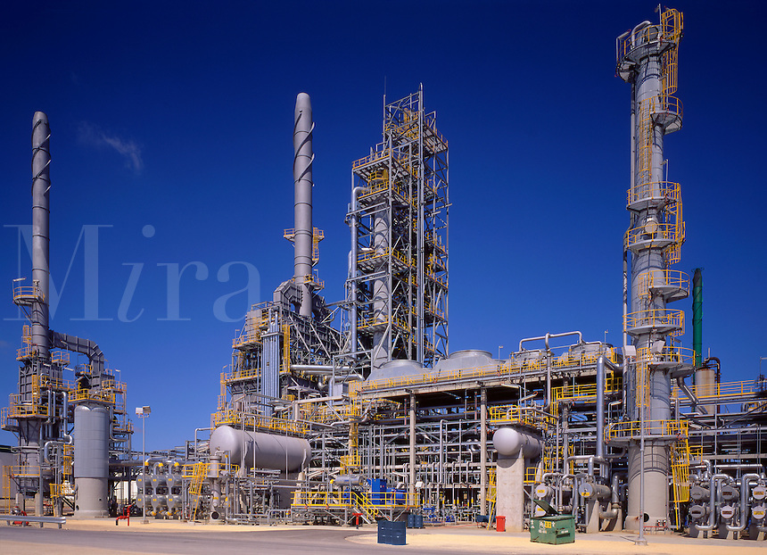Oil Refinery.  Unit in oil refinery. Australia.