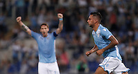 Calcio, Serie A: Lazio vs Bologna. Roma, stadio Olimpico, 22 agosto 2015.<br /> Lazio&rsquo;s Ricardo Kishna celebrates after scoring during the Italian Serie A football match between Lazio and Bologna at Rome's Olympic stadium, 22 August 2015.<br /> UPDATE IMAGES PRESS/Isabella Bonotto