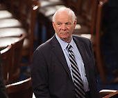 United States Senator Ben Cardin (Democrat of Maryland) awaits the arrival of U.S. President Donald J. Trump to address a joint session of Congress on Capitol Hill in Washington, DC, February 28, 2017. <br /> Credit: Chris Kleponis / CNP