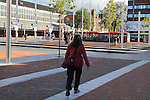 Beth on way to the bus and train station, Haarlem, Netherlands