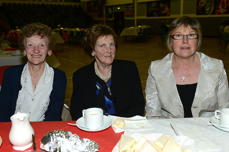 Brigit Finlay, May Reilly and Breda Matthews pictured at The Gathering in Ardee parish centre. Photo:Colin Bell/pressphotos.ie