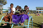 TANZANIA Mara, Tarime, village Masanga, region of the Kuria tribe who practise FGM Female Genital Mutilation, temporary rescue camp of the Diocese Musoma for girls which escaped from their villages to prevent FGM / TANSANIA Mara, Tarime, Dorf Masanga, in der Region lebt der Kuria Tribe, der FGM weibliche Genitalbeschneidung praktiziert, temporaerer Zufluchtsort fuer Maedchen, denen in ihrem Dorf Genitalverstuemmelung droht, in einer Schule der Dioezese Musoma, Spielplatz