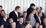 Ex-Rangers chairman Malcolm Murray takes his seat in the stand
