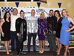 Martha Devlin, Will Nelson, Sarah Gardiner, John Boylan, Aisling Shevlin, Margaret Brady, Barry Byrne and Denise Fay at the Team Carrie presentation night held in the Grove hotel Dunleer. Photo:Colin Bell/pressphotos.ie